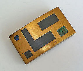 Los Castillo Taxco Mexico Modernist Brass Buckle