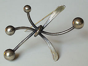 Art Smith Sterling Modernist Jewelry Brooch