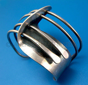 Art Smith Modernette Sterling Cuff Bracelet - Modernist