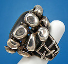 Rachel Gera Modernist Jewelry Sterling Ring - Israel