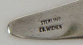 Ed Wiener Modernist Jewelry Sterling Brooch