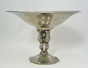 Just Andersen Art Deco Pewter Compote - Denmark