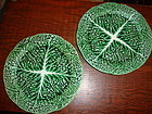 Cabbage Plates Secla Portugal set of 2