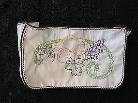 1960's toaster cover hand embroidered