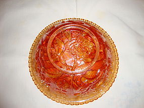 Imperial Carnival Glass Open Rose Bowl