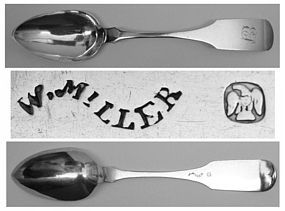 Philadelphia Coin Silver Tablespoon by William Miller
