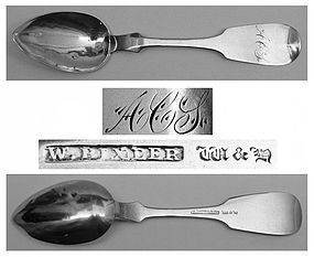 Easton, PA Teaspoon Circa 1840-48, William Bixler