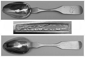 Rare Lewisburg, PA Teaspoon, John K. Housel Ca. 1823-45