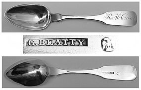 Harrisburg Coin Silver Teaspoon by George Beatty