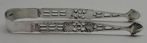American? Silver Sugar Tongs Circa 1760-70 - Maker's Mark T.H Only
