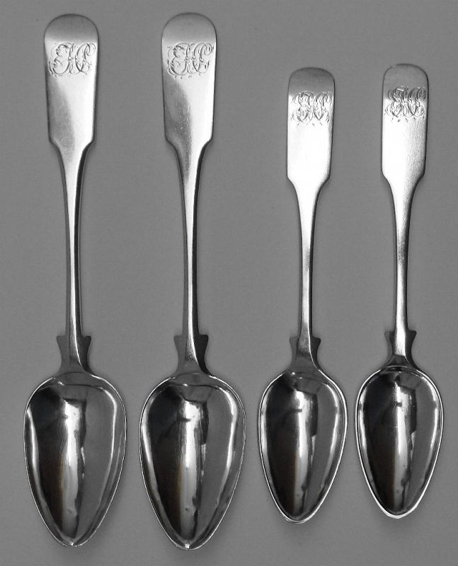 Superb Group of Coin Silver Spoons by Lewis & Smith and Edward Lownes