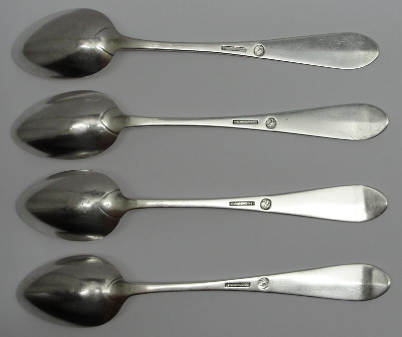 Important Set of Four Washington, DC Dessert Spoons by Bentley & Wood