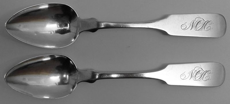 Pair of Teaspoons by J.BELL of New York - But Which J. Bell?