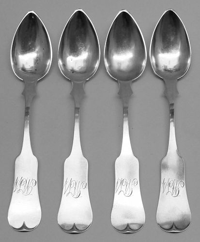 Important Set of 4 Maysville, KY Tspns by J. S. Gilpin - Unrecorded Mk