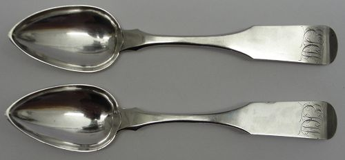Good Pair of Baltimore Teaspoons by Samuel Kirk With Assay Marks