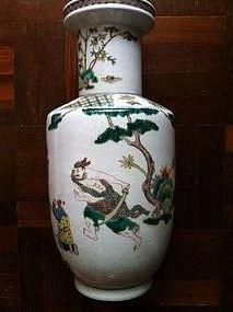 Famille verte Rouleau Vase