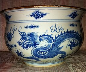 Qing kangxi Dragon Censer