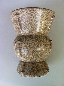 Ge Type Zun Archaic Bronze Shape Vase