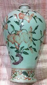 Famille verte meiping vase
