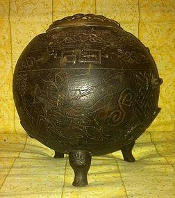 Qing Chinese Bronze Tripod censer
