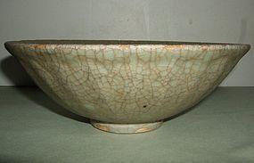 Guan Type Celadon Longquan Lotus Bowl