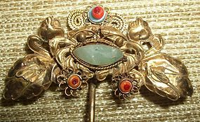Qing Dynasty Noble lady's gilt silver hairpin