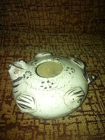 Chinese cizhou kiln pottery frog water dropper