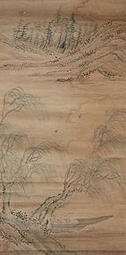 Chinese antique classical landscape painting