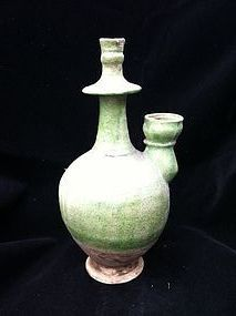 Liao dynasty green glaze pottery water pot