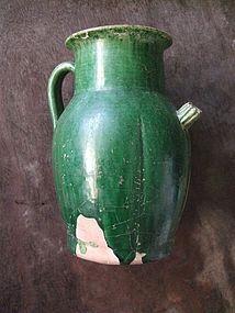 Liao Dynasty Green glaze ewer