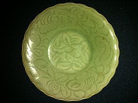 Ming celadon Longquan dish