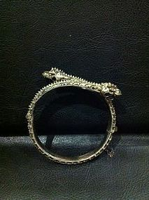 A rare silver bracelet in the form of dragon snake