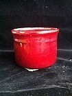 Ox Blood red incense burner censer