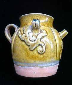Chinese Tang Dynasty Straw glaze ewer