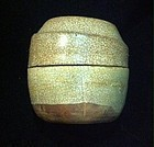 Chinese late Tang Dynasty to Five Dynasties crackle glaze covered box