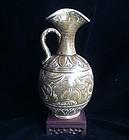 Chinese Sui Dynasty era olive green glaze Yue ewer