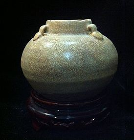 Chinese Late Tang to Five dynasties four lugs jar