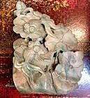 Jadeite carving  of goldfish