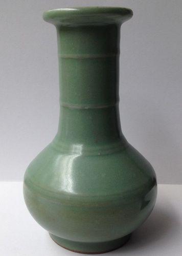 An elegant longquan celadon vase