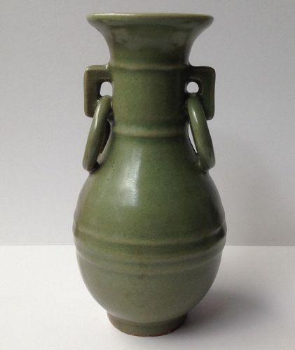 Chinese Longquan celadon ring vase