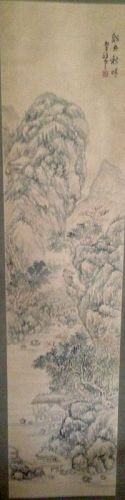 Old Chinese ink painting