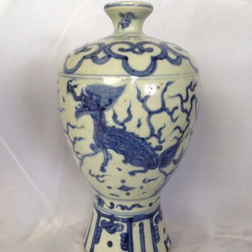 Chinese Blue White Meiping vase