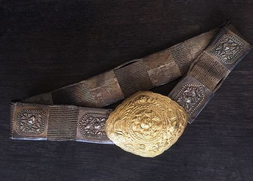Peranakan Straits Chinese buckle and belt