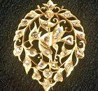 Peranakan Straits Chinese Intan diamond brooch