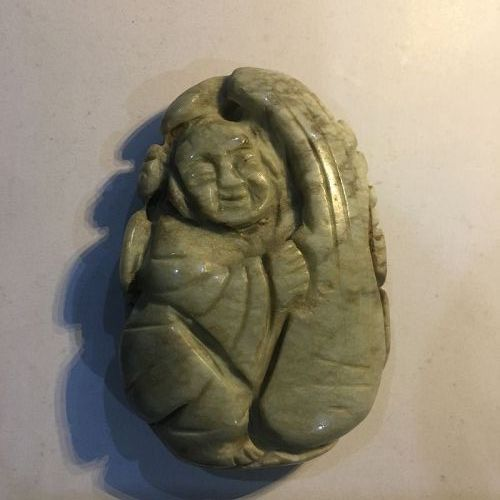 Chinese jadeite carving of a boy