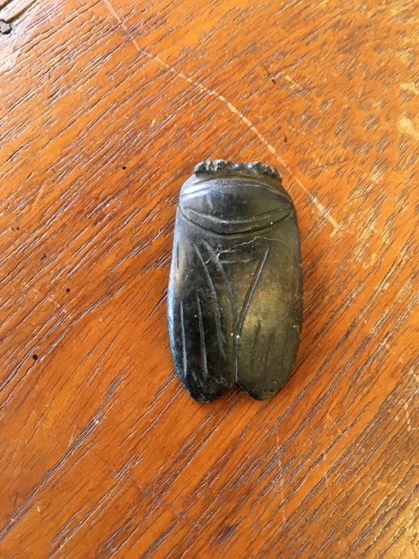 Antique jade cicadas