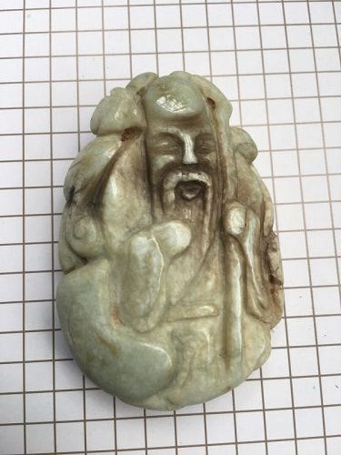 Chinese jadeite carving longevity figure