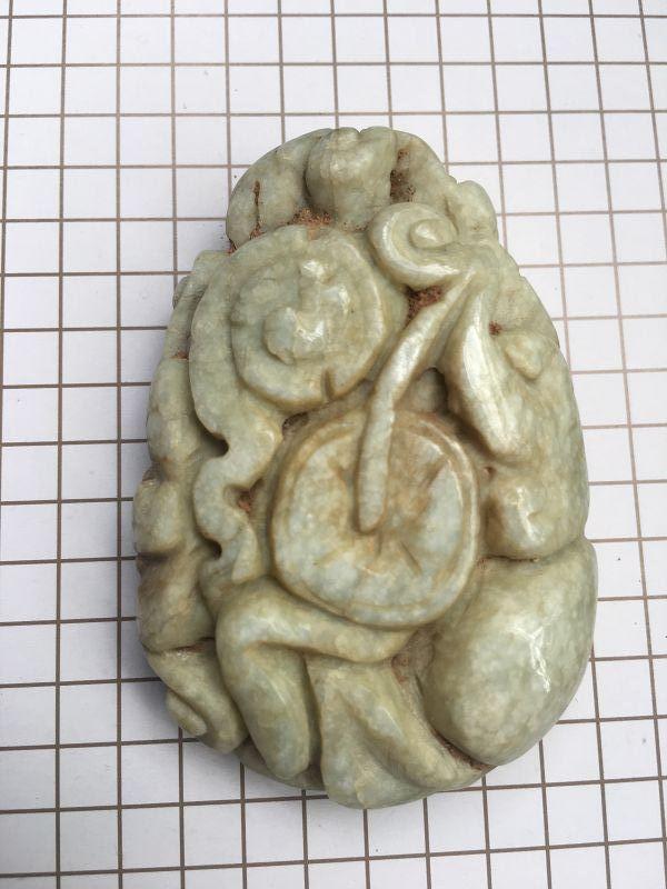 Chinese jadeite carving longevity figure