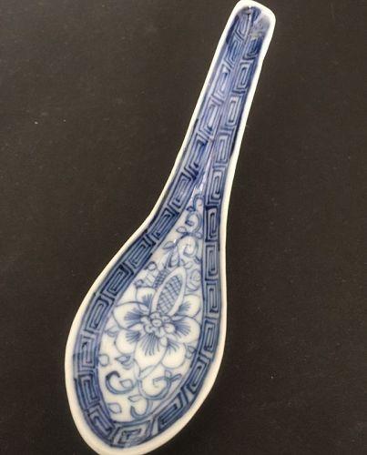 Straits Chinese Blue White Nyonya ware spoon