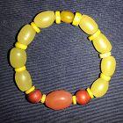 Antique glass beads bracelet